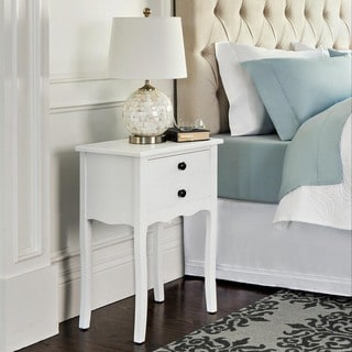 Abbyson Larsa White Tea End Table
