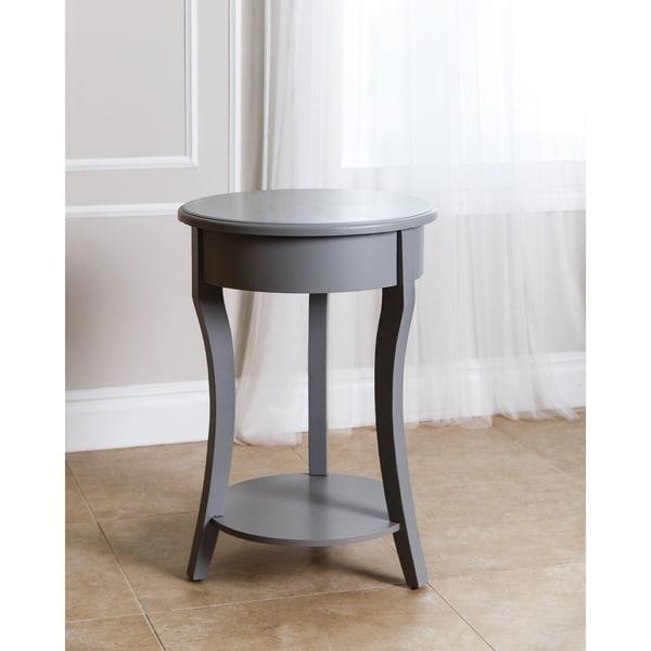Abbyson Taylor Steel Grey Wood End Table
