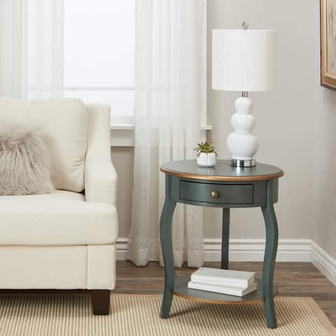 Abbyson Clarence Round Accent Table