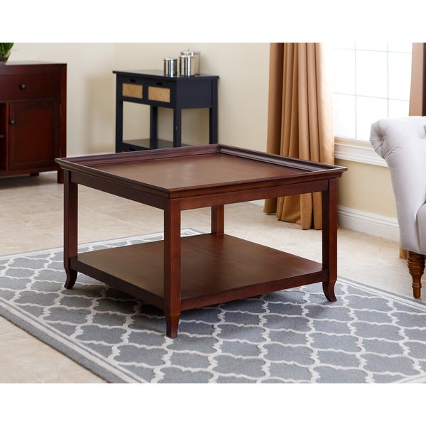 Abbyson Carson 36 Inch Square Wood Coffee Table Free Shipping Today