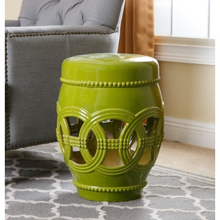 ABBYSON LIVING Whitney Lime Ceramic Oversized Garden Stool