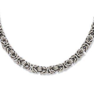 Versil Stainless Steel Fancy Link 22-inch Necklace
