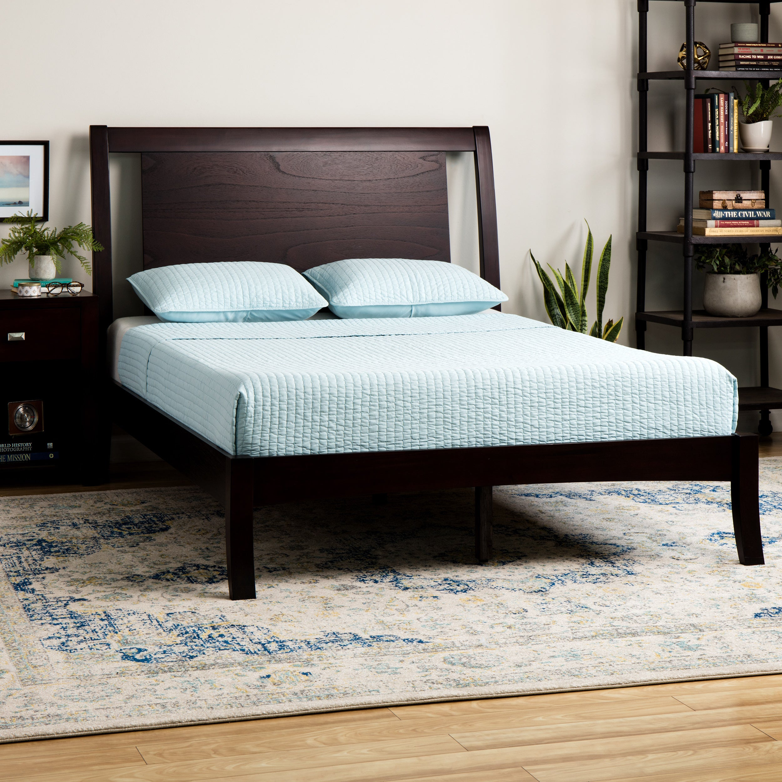 - Shop Floating Panel Queen-size Sleigh Bed - Overstock - 1151046