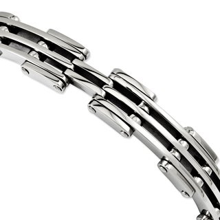 Versil Stainless Steel Polished 9-inch. Bracelet