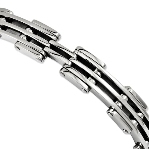 Chisel Stainless Steel with High Polished 7.75-inch Bracelet