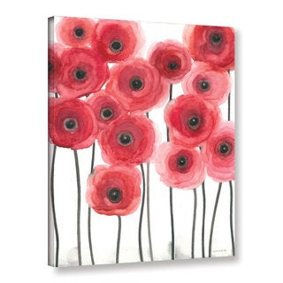 ArtWall Norman Wyatt JR's ' Poppies On White' Gallery Wrapped Canvas