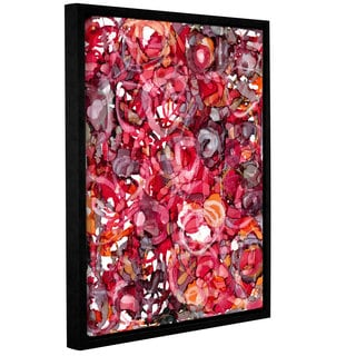 ArtWall Norman Wyatt JR's 'Wild Roses' Gallery Wrapped Floater-framed Canvas