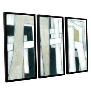 ArtWall Norman Wyatt JR's 'Bridges' 3-Piece Floater Framed Canvas Set