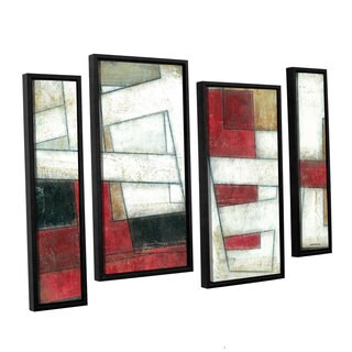 ArtWall Norman Wyatt JR's 'Alignment'  4-Piece Floater Framed Canvas Staggered Set