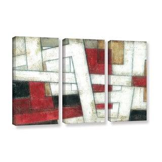 ArtWall Norman Wyatt JR's 'Alignment'  3-Piece Gallery Wrapped Canvas Set