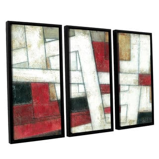 ArtWall Norman Wyatt JR's 'Alignment'  3-Piece Floater Framed Canvas Set