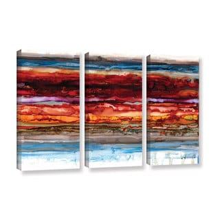 ArtWall Norman Wyatt JR's 'Innermost'  3-Piece Gallery Wrapped Canvas Set
