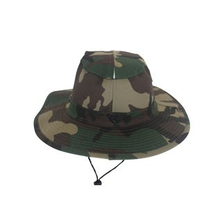 Bughat Trailblazer Mosquito Net Safari Camo Unisex Sun and Bug Protection Hat
