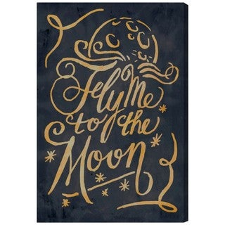 Oliver Gal 'To The Moon' Typography and Quotes Wall Art Canvas Print - Black, Brown