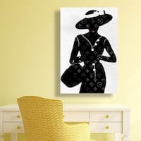 Oliver Gal 'Silhouette of a Lady'  Canvas Art