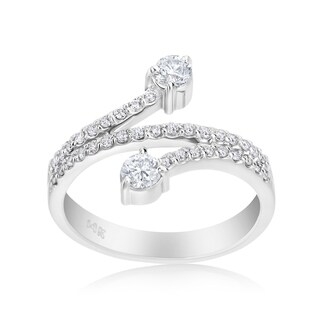 Andrew Charles 14k White Gold 1/2ct TDW Diamond Ring (H-I, SI1-SI2)