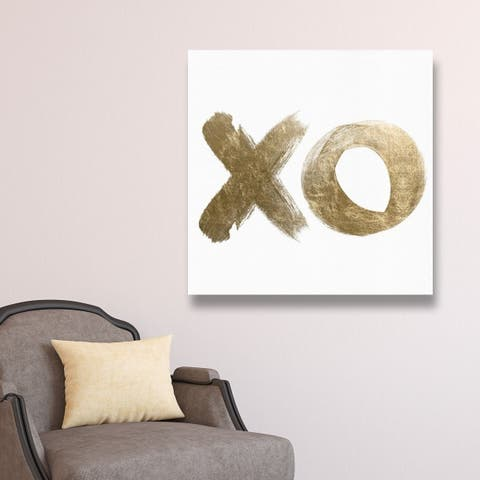 Oliver Gal 'Golden Reminders' Symbols and Objects Wall Art Canvas Print - Gold, White