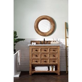 James Martin Malibu Traditional 36-inch Honey Alder Single Vanity