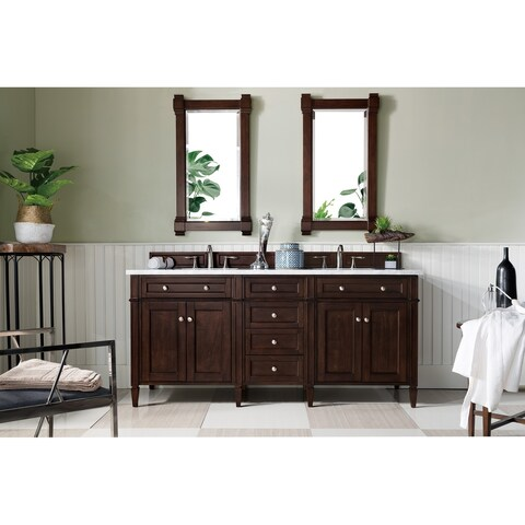 """Brittany 72"""" Double Cabinet, Burnished Mahogany"""