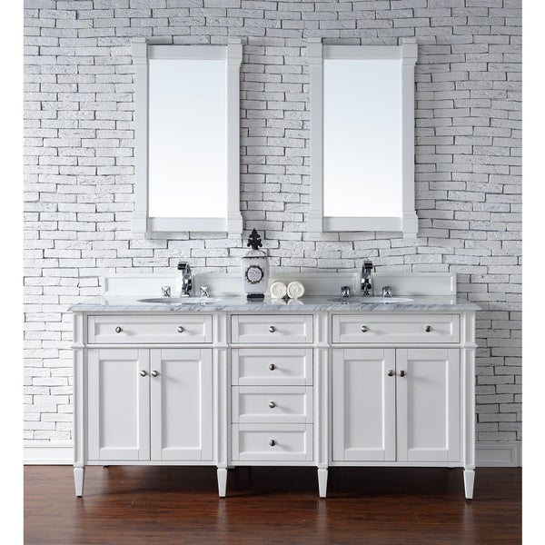 Ordinaire Cottage White Brittany 72 Inch Double Vanity Cabinet