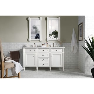 """Brittany 60"""" Double Cabinet, Cottage White"""
