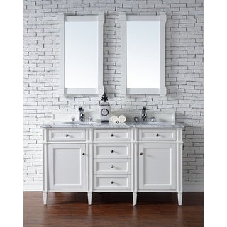 Cottage White Brittany 60-inch Double Cabinet