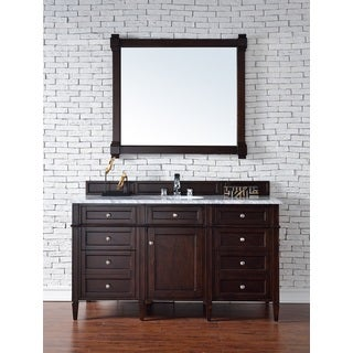 Burnished Mahogany Brittany 60-inch Single Vanity cabinet