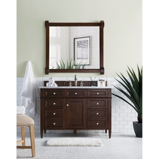Burnished Mahogany Brittany 48-inch Single Vanity cabinet