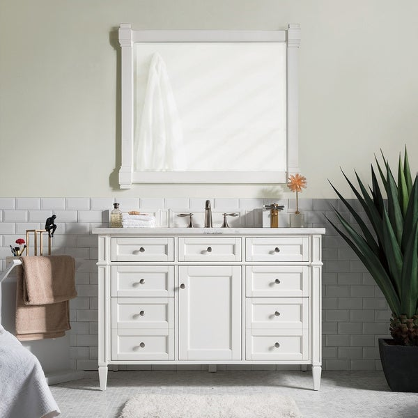 "Brittany 48"" Single Cabinet, Cottage White"