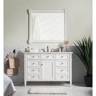 Cottage White Brittany 48-inch Single Vanity cabinet