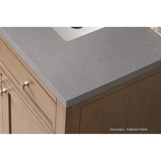 Brittany 36 Single Cabinet, Urban Gray (3cm grey expo quartz top by Silestone - Assembly Required - 18 to 34 Inches - 36 x 23.50 x 34)