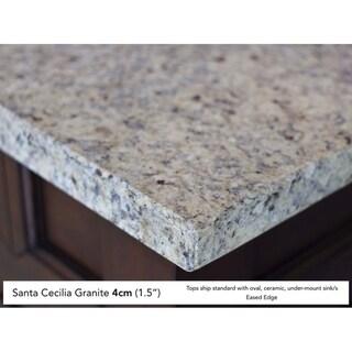 Brittany 36 Single Cabinet, Urban Gray (4cm santa cecilia granite top - Assembly Required - Over 34 Inches - 36 x 23.5 x 34.25)