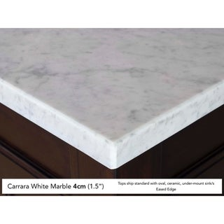 Brittany 36 Single Cabinet, Urban Gray (4cm carrara white marble top - Assembly Required - Over 34 Inches - 36 x 23.5 x 34.25)