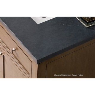 Brittany 36 Single Cabinet, Urban Gray (3cm charcoal soapstone quartz top by Silestone - Assembly Required - 18 to 34 Inches - 36 x 23.50 x 34)