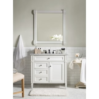 Cottage White Brittany 36-inch Single Vanity cabinet