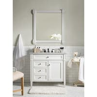 "Brittany 36"" Single Cabinet, Cottage White"