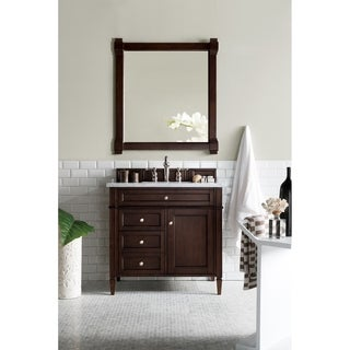 Burnished Mahogany Brittany 36-inch Single Vanity cabinet