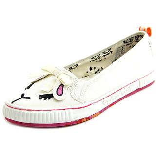 Tigerbear Republik Women's 'Sneaky Beast' White Textile Casual Shoes