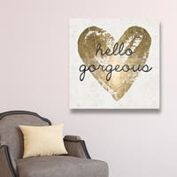 Oliver Gal 'Gorgeous Salute White'  Canvas Art