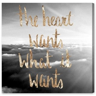 Oliver Gal 'Heart Wants What It Wants'  Canvas Art