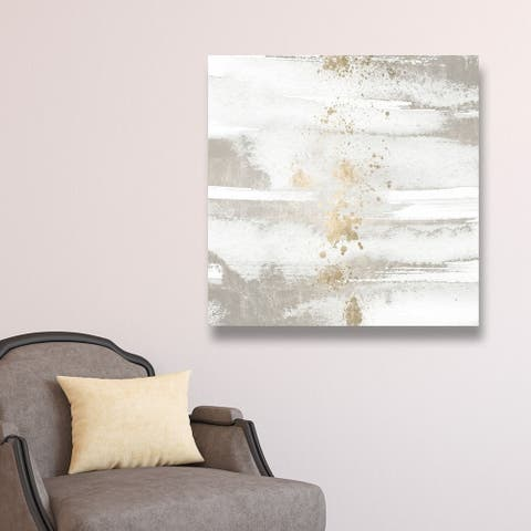 Oliver Gal 'Sun and Rain' Abstract Wall Art Canvas Print - White, Gold