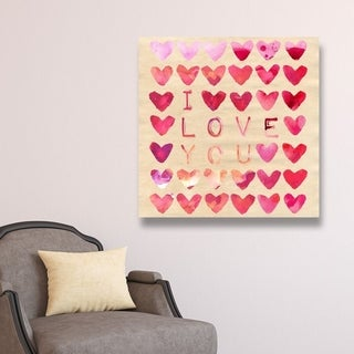 Oliver Gal 'I Love You '  Canvas Art