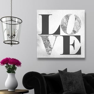Oliver Gal 'Build On Love Silver'  Canvas Art