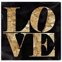 Oliver Gal 'Solid Gold Stone'  Canvas Art
