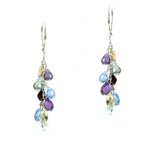 Multi Gemstone Earrings