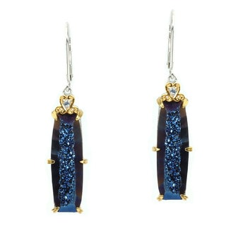 Michael Valitutti Love Spell Blue Druzy Earrings