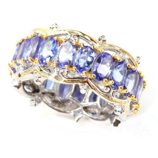 Michael Valitutti Tanzanite Eternity Ring