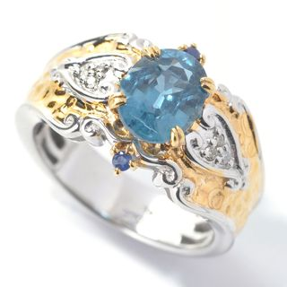 Michael Valitutti Teal Kyanite Ring