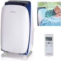 Honeywell White/ Blue HL14CESWB HL Series 14,000 BTU Portable Air Conditioner with Remote Control - White