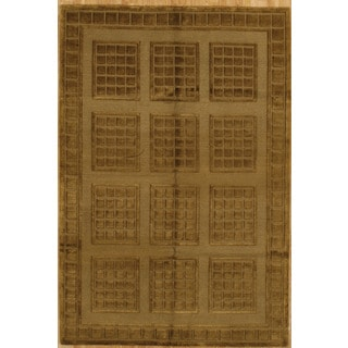 Hand Knotted Flat Weave Rug (6'1 x 9')
